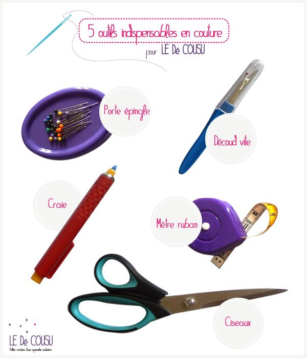 5 outils indispensables pour la couture