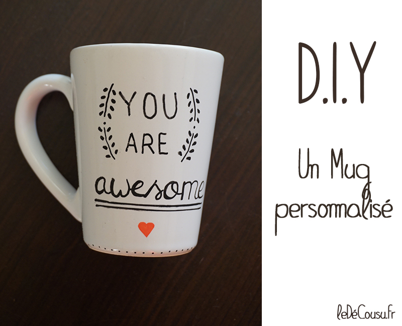mug personnalis diy le d cousu. Black Bedroom Furniture Sets. Home Design Ideas