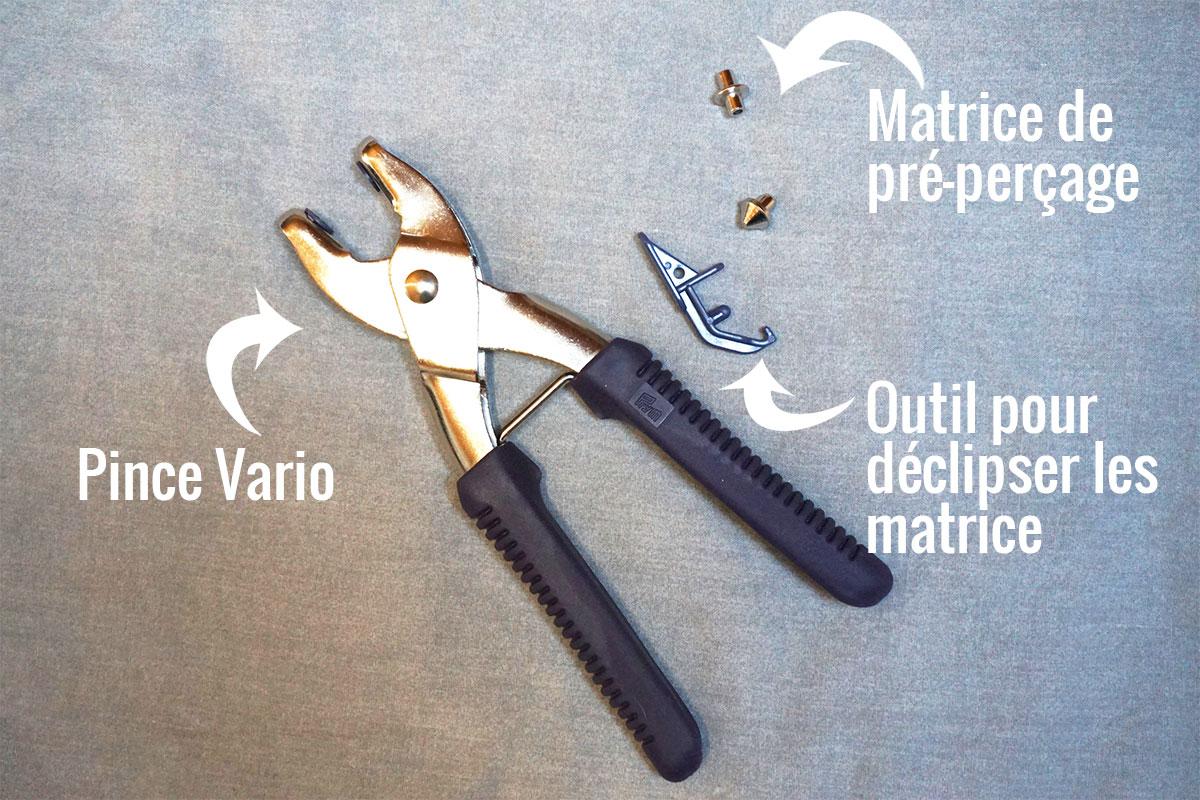 Comment Poser Des Oeillets Avec La Pince Vario Prym Tuto Le Dé
